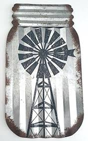 rustic milk can with windmill corrugated steel wall art farmhouse kitchen decor kirklands