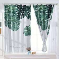 Image Window Treatments Lazada Philippines 13m 1pc Blackout Home Office Window Curtains Banana Leaf Pattern Window Curtain Rod Pocket Drape Curtain For Summer