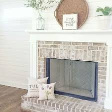 image result for whitewashed brick and shiplap fireplace with tv over mantle fireplaces painted brick shiplap fireplace mantle and bricks