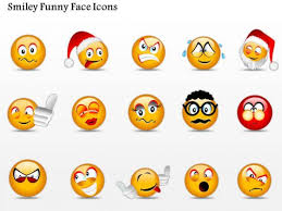 Funny Face Templates Business Diagram Smiley Funny Face Icons Presentation