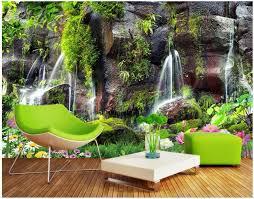 3d wallpaper <b>custom photo Garden</b> landscape waterfall background ...