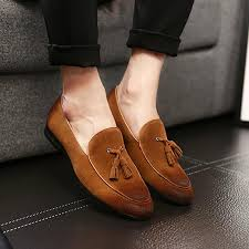 Wedding <b>Business Shoes</b> Flat Shoes Men <b>Casual</b> Bright Suede ...