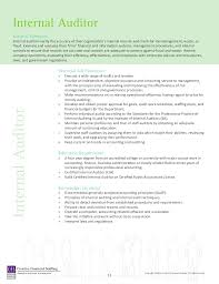 internal auditor internal auditors job description