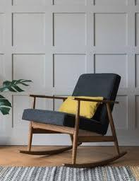h lis fox rocking chair denim six colours available mid century modernmid