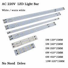T5 Light Bar Us 9 87 21 Off 10pcs Ac220v Led Light Bar Rigid Strip Driverless For T5 T8 Tube 5w 6w 10w 180 260v Smd5730 Led Pcb Light Source High Brightnes In