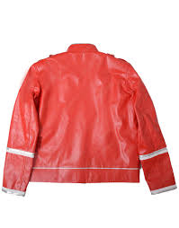 rock band red leather jacket