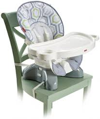 Fisher Price Spacesaver High Chair in Geo Meadow from Best Car and High  Chair Booster Seats