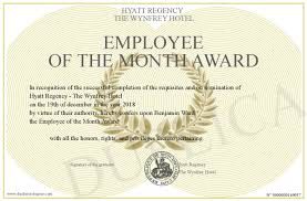 Employee Of The Month Award Employee Of The Month Award