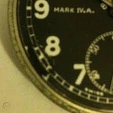 WW1 RFC W.Ehrhardt IVA black face 8 day aviation pocket watch   #463064700