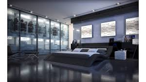 Lit Design Le Lit Sydney Couleur Noir Et Sa Structure Ondul E