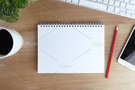 office table top. office desk table top view business d