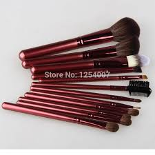 whole professional golden cosmetic makeup brushes natural hair eyeshadow foundation powder concealer blending brush set kits professional makeup brushes