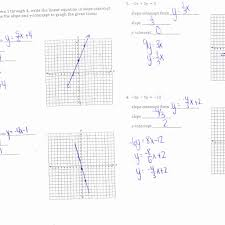 worksheet answer 7 graphing linear equations using slope and intercepts worksheet 1