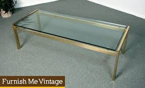 metal top coffee table glass top metal coffee table vintage mid century two tier glass coffee