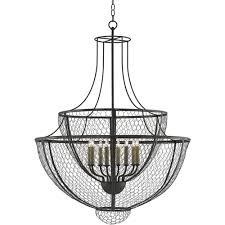 french country wire basket chandelier