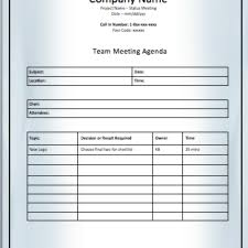 Printable Meeting Agenda Templates - Free For Download