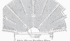 Ryman Auditorium Seat Map Ryman Seating Chart Main Floor