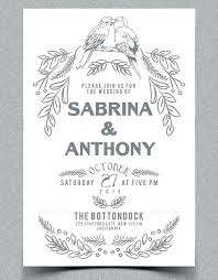 Free Wedding Announcement Templates Download Rustic Wedding