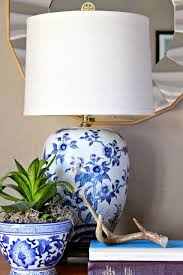 blue and white lamps. Vintage Blue And White Ethan Allen Lamps