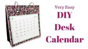 easy calendars diy desk calendar craft fair ideas