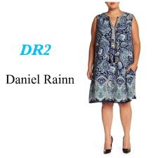 Daniel Rainn Size Chart Womens Daniel Rainn Plus Blue Tank Dress Sz 3x Nwt Nwt