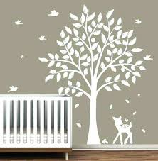 nursery tree decals tree wall decor stickers elegant wall decals children s white tree decal nursery nursery tree decals