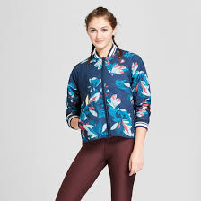 Women's Floral Quilted Bomber Jacket - JoyLab™ Navy : Target & Women's Floral Quilted Bomber Jacket - JoyLab™ Navy Adamdwight.com