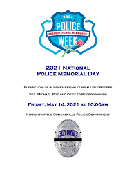 How many days until memorial day 2021? Police Memorial Day Flyer 2021 City Of Duncanville Texas Usa