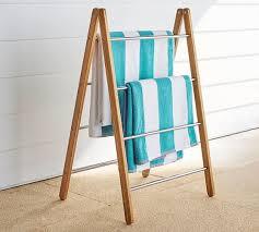outdoor shower collapsible towel rack