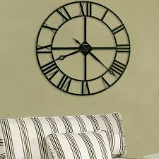 large black wall clocks clocks clocks black metal wall clock with same color for