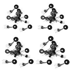 hot sale 10pcs 6 in 1 black rubber stopper fishing bobbers float