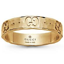 gucci jewellery ernest jones gucci 18ct yellow gold icon ring size o product number 4845617