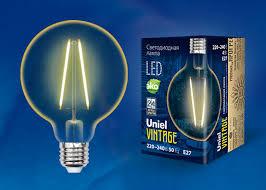 <b>Лампа</b> светодиодная <b>LED</b>-<b>G80</b>-<b>4W</b>/<b>GOLDEN</b>/<b>E27 GLV21GO Uniel</b> ...
