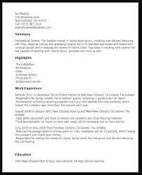 Tile Installer Resume Sample Ipasphoto