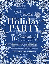 snowflake holiday party invitation template blue stock vector art snowflake holiday party invitation template blue royalty stock vector art