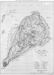 map of japanese defence installations at iwo jima ×