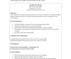 Surprising Professional Cna Resumeience Work Summary Nursing ...
