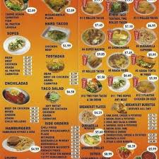 mexican food menu. Contemporary Food Mexican Food Menu  Resume Corner Intended For 2018 And