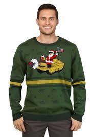 Men\u0027s Santa on Tank Christmas Sweater Ugly