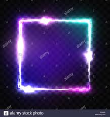 Photo Frame Light Design Neon Sign Night Square Frame With Glowing And Light