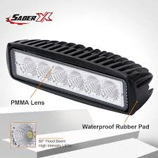 Waterproof Led Light Bar For Atv China 6 Inch 18w Flood Single Row Waterproof Led Work Light