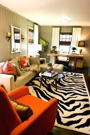 round orange zebra rug modern sectional gray walls desk zebra rug jonathan adler orange zebra rug