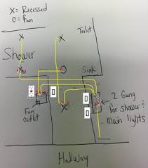 electrical how do i wire multiple switches for my bathroom lights enter image description here