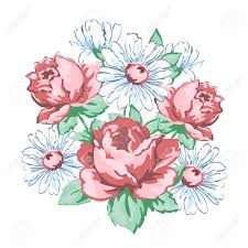 Floral Embroidery Designs Vector Flowers Hand Drawn Floral Embroidery Design Fabric Print Vector