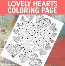 Small Picture Lovely Hearts Coloring Page free printable Trail Of Colors