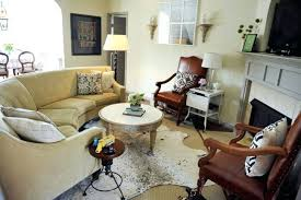 appealing small traditional living room curved sofa and cowhide rug area placement in no how to