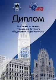 Достижения Диплом Подвижная недвижимость 2008
