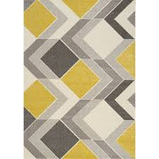 8 x 11 large geometric gray cream and yellow area rug safi rc willey furniture