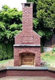 outdoor brick fireplace fireplaces gas