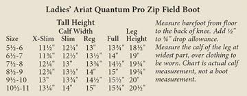 Ariat Heritage Field Boot Size Chart Ariat Quantum Crowne Pro Zip Field Boot